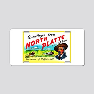 North Platte Nebraska Greetings Aluminum License P
