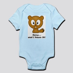 Sexy And I Know It Chipmunk Infant Bodysuit