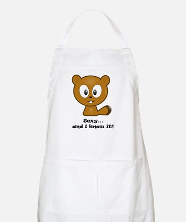 Sexy And I Know It Chipmunk Apron