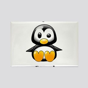 Oh Yeah, I'm Cool Penguin Rectangle Magnet