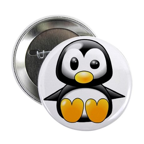 """Oh Yeah, I'm Cool Penguin 2.25"""" Button"""