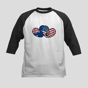 australian american flag heart Baseball Jersey
