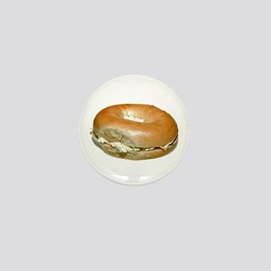 Bagel and Cream Cheese Mini Button