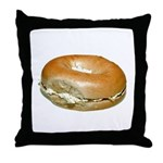 Bagel and Cream Cheese Throw Pillow