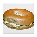 Bagel and Cream Cheese Tile Coaster