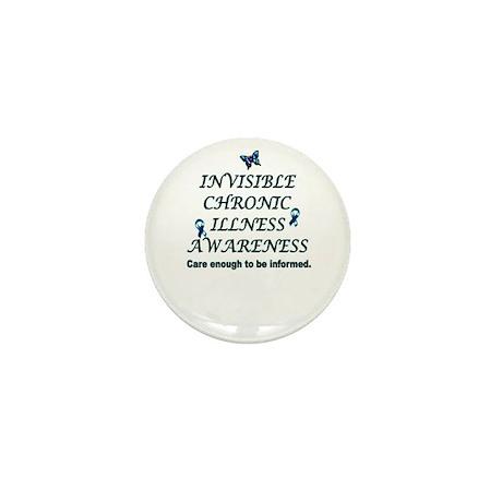 Invisible Chronic Illness Awa Mini Button