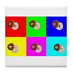 Andy Warhola Bagels Tile Coaster