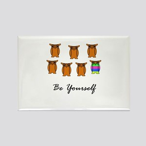 Be Yourself Orange Rectangle Magnet