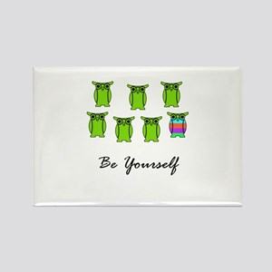 Be Yourself Green Rectangle Magnet