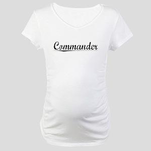 Commander, Vintage Maternity T-Shirt
