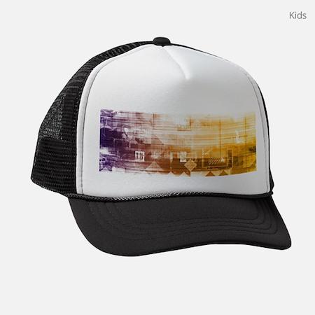 New Futuristic Kids Trucker Hat