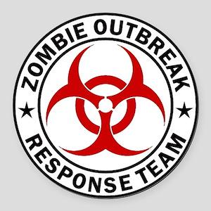 Zombie Outbreak Response Team Round Car Magnet