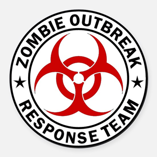 Zombie Outbreak Response Team Round Car Magnet