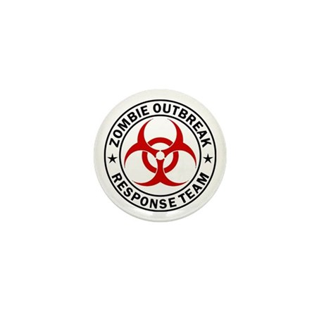 Zombie Outbreak Response Team Mini Button (10 pack