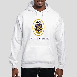 Phi Chi Theta Crest Personalized Hooded Sweatshirt