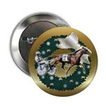Harness Racer Gold Xmas Button