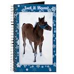 Arab Foal Snow Journal