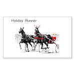 Santa Racing Rectangle Sticker