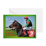 Horse Racing Xmas Cards (Pk of 10)