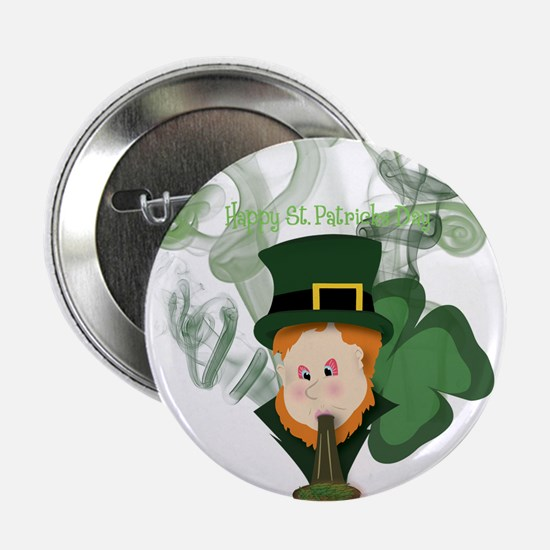 "Smoking Leprechaun 2.25"" Button"
