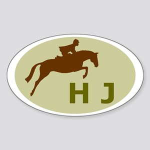 hunter jumper gifts (sage) Oval Sticker