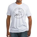 sta_dog_2 Fitted T-Shirt