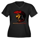 The Spartan 2 Women's Plus Size V-Neck Dark T-Shir