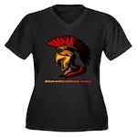 The Spartan 2 Women's Plus Size V-Neck Dark T-Shir
