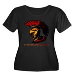 The Spartan 2 Women's Plus Size Scoop Neck Dark T-