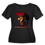 The Spartan 2 Women's Plus Size Scoop Neck Dark T-