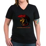 The Spartan 2 Women's V-Neck Dark T-Shirt