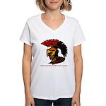The Spartan 2 Women's V-Neck T-Shirt