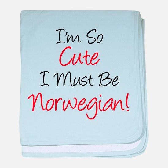 So Cute Must Be Norwegian baby blanket