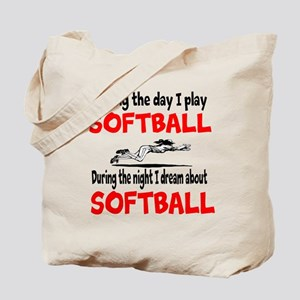 I Dream about Softball Tote Bag