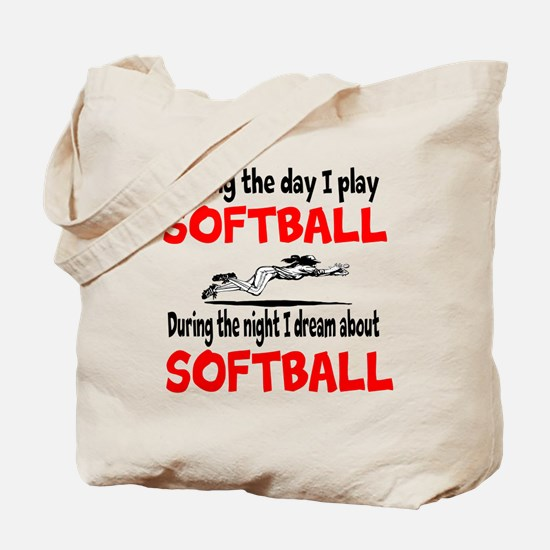I Dream about Softball Tote Bag