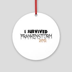I Survived Frankenstorm Ornament (Round)