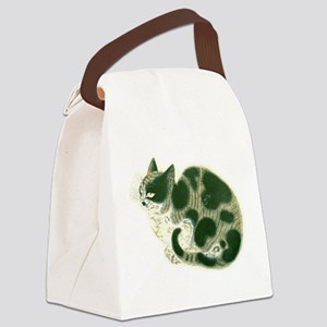 Vintage Chinese Painting of Cat Canvas Lunch Bag