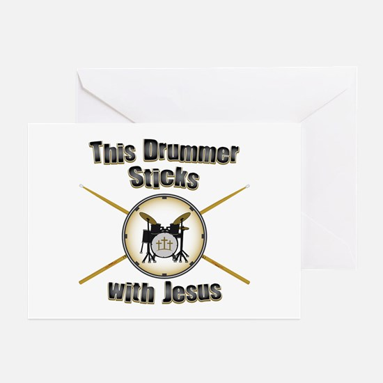 Christian Drummer Greeting Cards (Pk of 10)