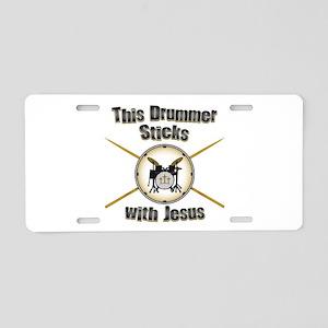 Christian Drummer Aluminum License Plate