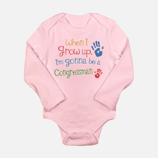 Kids Future Congressman Long Sleeve Infant Bodysui