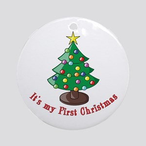 It's my First Christmas Ornament (Round)