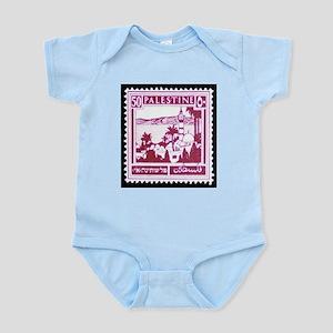 Palestine Vintage Postage Stamp Infant Bodysuit