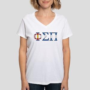 Phi Sigma Pi CO Women's V-Neck T-Shirt
