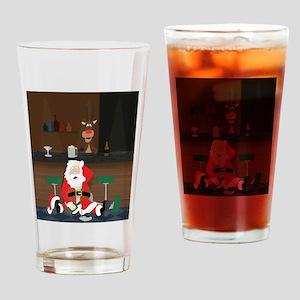 Drunken Santa Drinking Glass