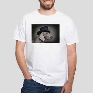 Weimaraner Cowgirl White T-Shirt