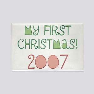 2007 My First Christmas Rectangle Magnet