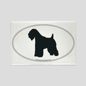 Wheaten Terrier Silhouette Rectangle Magnet