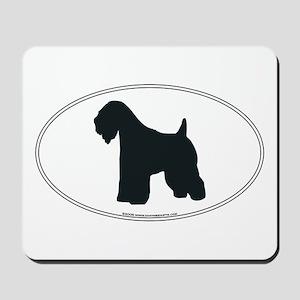 Wheaten Terrier Silhouette Mousepad