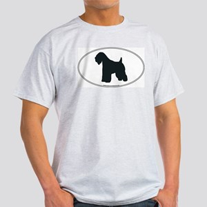 Wheaten Terrier Silhouette Ash Grey T-Shirt