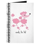 ooh la la poodle Journal